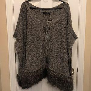 Vertigo Fur Poncho size L/XL